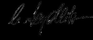 äUnterschrift Sophie von Seydlitz